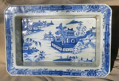 """MUSEUM QUALITY 16""""x11"""" Qing Chinese Blue White Porcelain Narcissus Bulb Planter"""