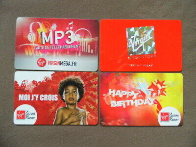 4 GIFT CARDS ( to collect no value )  Frankrijk  -  VIRGIN