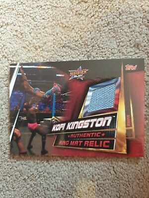 Topps WWE Slam Attax Universe Ring Mat Relic Card  Kofi Kingston rmpa