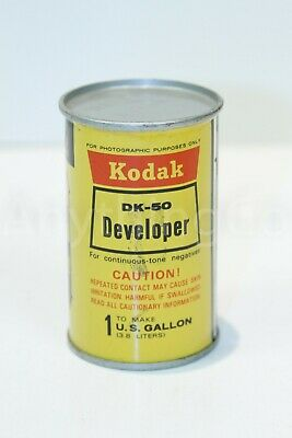 Kodak DK-50 Developer Continuous - Tone Negatives Tin Can Sealed