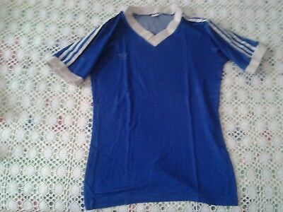 shirt ADIDAS vintage BLU maglia trikot jersey maillot camiseta Chelsea France 80