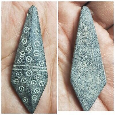 Ancient lovely bactrian schist stone pendant