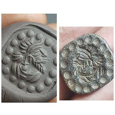 Ancient bactria old schist stone intaglio stamp seal