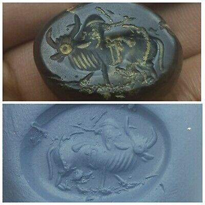 Very old agate intaglio very nice agate bead seal