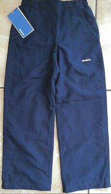 NEW Reebok Woven Pants Trousers Navy Girls Size 7-8 Years 128cm RRP £14.99
