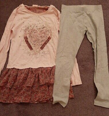 Girls pretty Next top and leggings set age 11