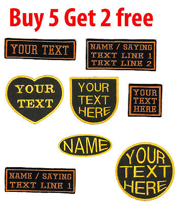 PERSONALISED BIKER NAME PATCHES BADGES EMBROIDERED IRON ON SEW On TAG Bespoke