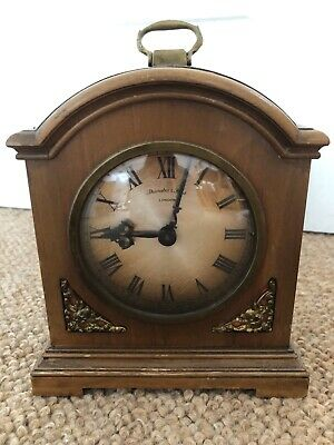 A Fine Mahogany Mantel Clock By Thwaites And Reed With A Key