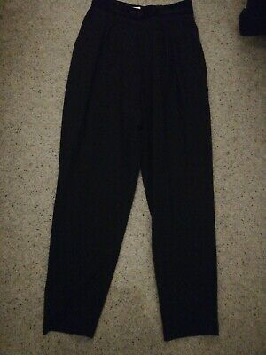 True Vintage 1980s Black Gothic High Waisted Trousers Size small 6-8 New Wave