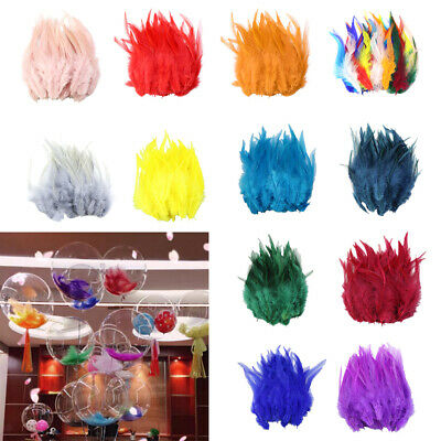 """50pcs 5-7"""" Beautiful Pheasant Tail Feather Rooster Feathers Trims For Crafts"""