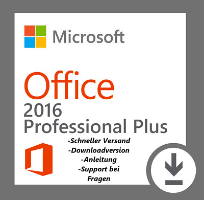 Microsoft Office 2016 Professional Plus Key + Downloadlink 64Bit x64 Prof Pro MS