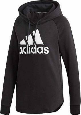 "Adidas Athletics Black/White ""Must Haves"" Over Head Badge of Sport Hoodie (WS)"