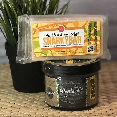 NEW Perfectly Posh Snarky Bar A Peel To Me Citrus + Portlandia Body Butter Set