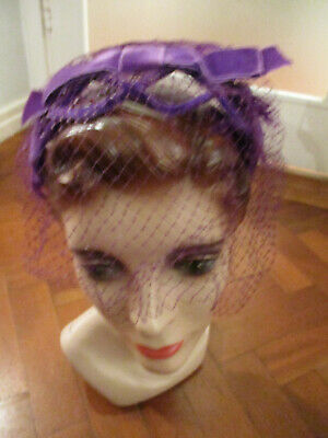 VINTAGE FRENCH 50s FEATHER HAT BAND