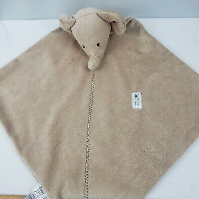 """Carters Baby Rattle Lovey Security Blanket 12"""" Elephant Unisex Precious Firsts"""