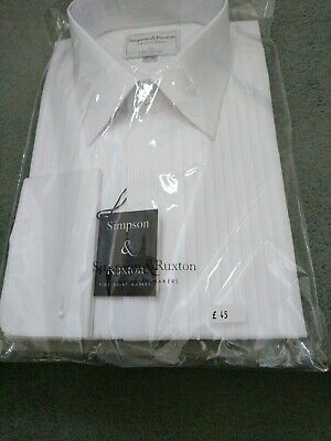 Mens Formal dress shirt 16.5 Finest Fabric quality Pure Cotton Made in England