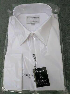 Men's Formal quality Dress Shirt 16.5 Finest Fabric Pure Cotton Made in England