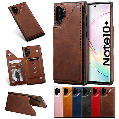 For Samsung Note10 Plus S10 S9 S8 A50 Cover Retro Leather Flip Wallet Stand Case