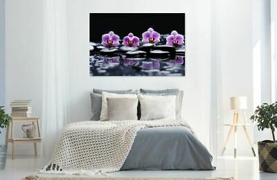 FLOWERS home decor print Australian made framed Stretched wall Canvas