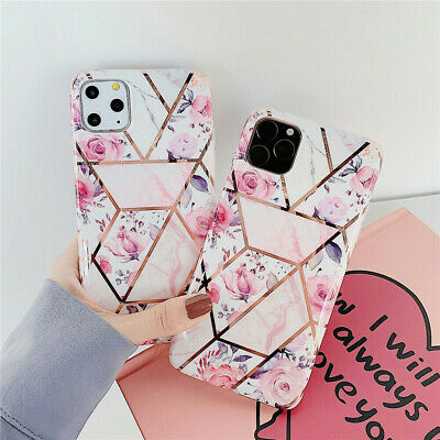 Geometric Flower Marble Pastel Case Cover For iPhone 11 Pro Max XS XR 8 7 6 Plus