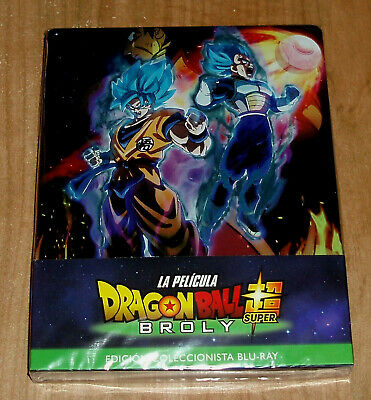 Dragon Ball Super Broly la Film Steelbook Blu-Ray + DVD Nuovo (senza Aprire) R2