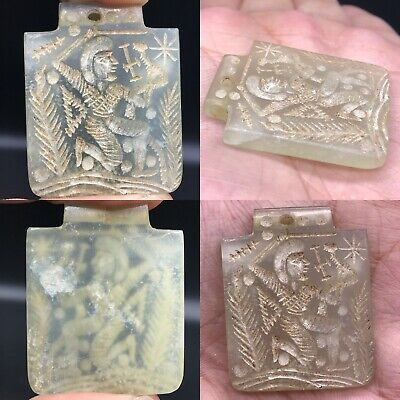Beautiful Antique Agate stone intaglio Seal stone Amulet Pendant