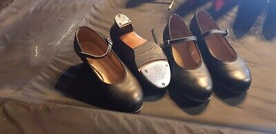 2 Pair Of Professional Women Girl lady's Tap Dance Shoes