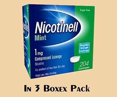 Nicotinell Lozenges Mint 1mg of 204 Pieces compressed Sugar Free IN 3 PACK