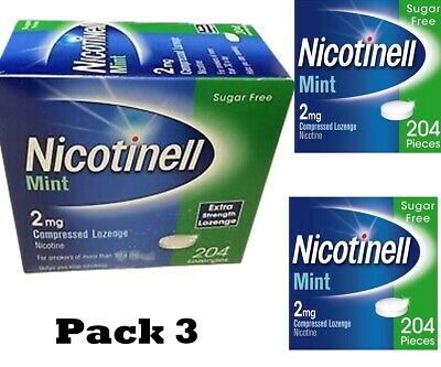 Nicotinell Lozenges Mint 2mg of 204 (3 PACK LISTING)