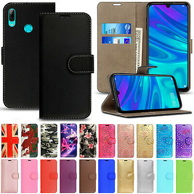 Leather Flip Wallet Card Holder Phone Case Cover for Huawei P Smart Y6 P30 P20