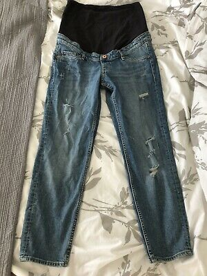 H&M Mama Over Bump Ripped Jeans Size 14 (40)