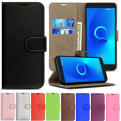 Magnetic Premium Leather Wallet Stand Flip Case Cover for Alcatel Phone Models