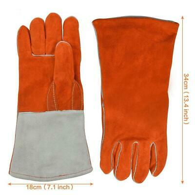 Welding Thickened Leather / Cotton Welding Gloves Fireproof Safety Protection Eq