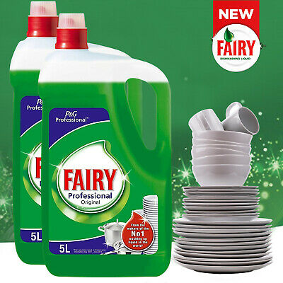 5L/10L Fairy Professional Original Washing Up Liquid Long Lasting Dish Detergent