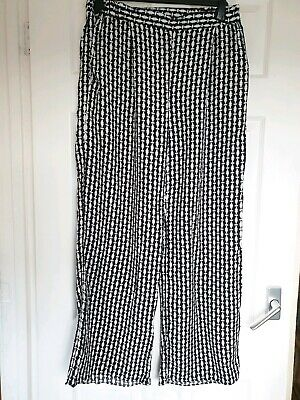 Excellent Condition Tu Black White Print Casual Trousers Size 12