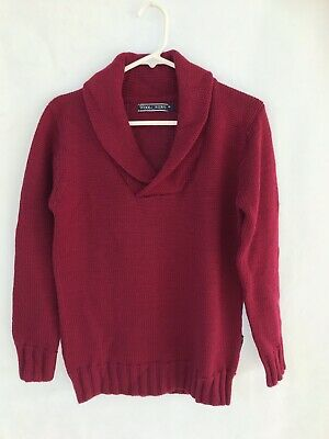 WOOLOVERS Pink Maroon Red Chunky Knit Jumper Cardigan Sz Xs 8 10