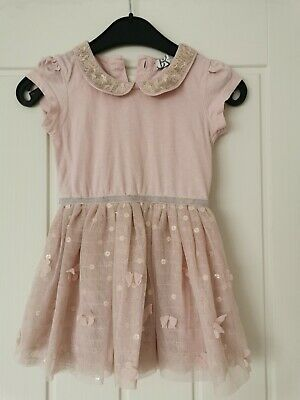 BABY GIRLS DRESS SEQUIN 18//24 MONTHS BY MARYLEBONE BHS CERISE PINK ORP £24 BNWT