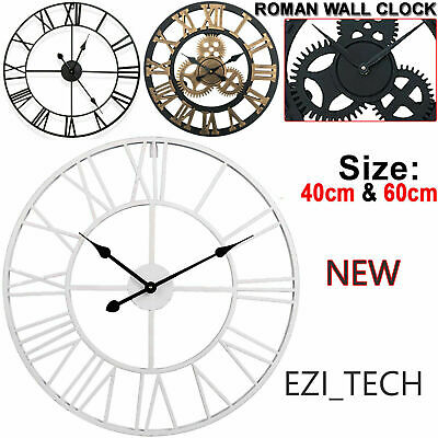 LARGE TRADITIONAL VINTAGE STYLE WALL CLOCK 30-60CM ROMAN NUMERAL HOME UK Seller