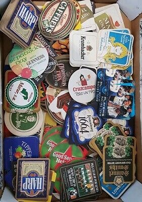 Job lot beer mats- Players Racing Team, Harp, Guinness, Caffrey's, Tetley etc