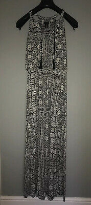 Monochrome Maxi Dress Size S (8-12uk). Reduced To Sell.