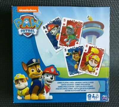 Nickelodeon Paw Patrol Fun Jumbo Playing Cards For Kids Age 3+ NEW