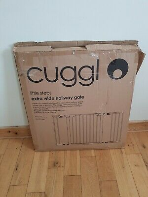 Cuggl Pressure Fit Safety Gate Extra Wide White New Boxed.
