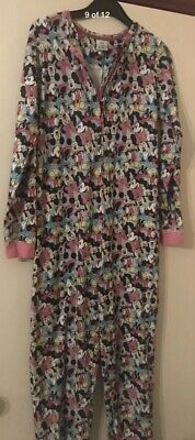 Disney One Piece Minnie Mouse Pyjamas Girls Age 12-13,Warm,Zip Up,Multicoloured