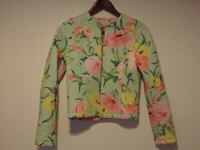 Baker by Ted Baker girls jacket / age 13-14 / floral and bird print