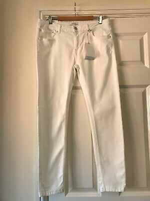 BNWT Ladies Zara Premium White Skinny Stretch Jeans UK Size 14 New Ankle Grazer