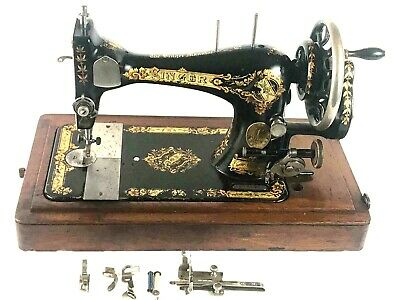 Antique Singer 28K Hand Crank Sewing Machine c1898 - FREE Shipping  [5679]