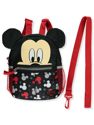 "Disney Mickey Mouse Logo Stars 10"" Harness Backpack"