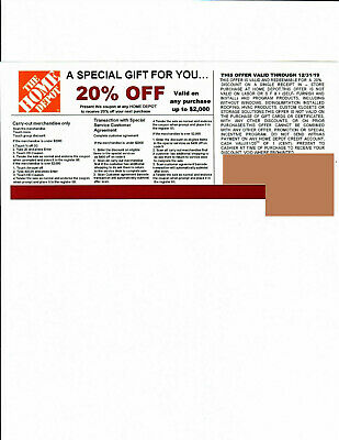 1 20% OFF HOME DEPOT Competitors Coupon at Lowe's expires 12/31/19