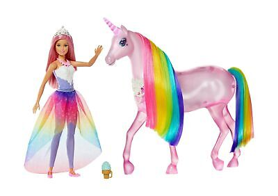 Barbie FXT26 Dreamtopia Magical Lights Unicorn with Lights and Sounds and Pri...