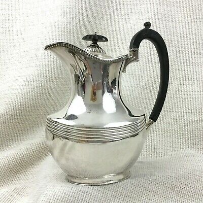 Antique Silver Plated Coffee Jug Pot Middlesbrough Silversmith Rare Maker